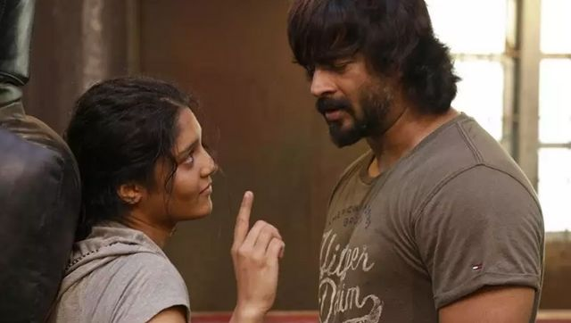 Madhavan in a still from Irudhi Suttru